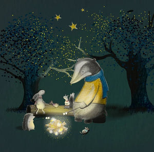 """Badger under the stars"" - Open Edition Print by Toots Design"