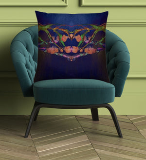 """Mother Nature's Crown"" Velvet Cushion - by Francesca Skelhorn"