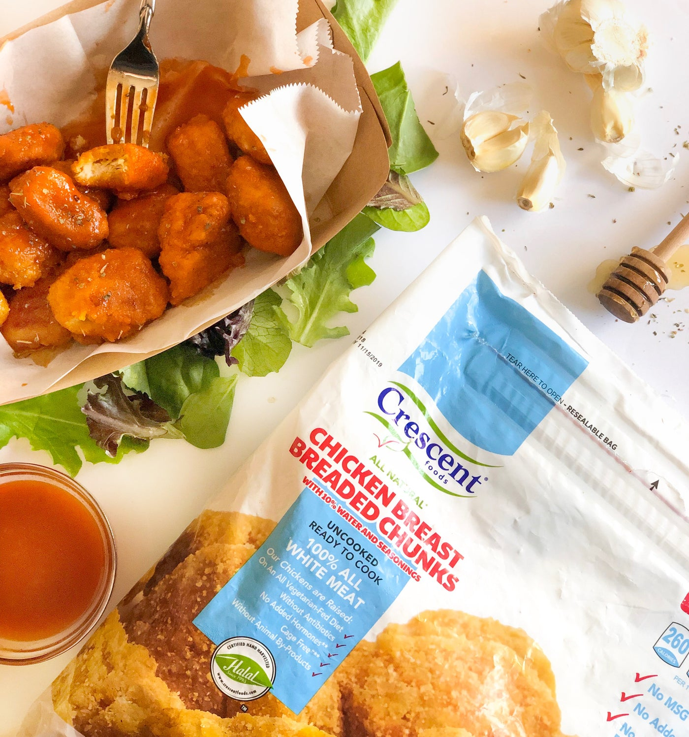 Spicy N' Sweet Chicken Breast Chunks | Home Meat Delivery | Crescent Foods Chicken Breast Breaded Chunks