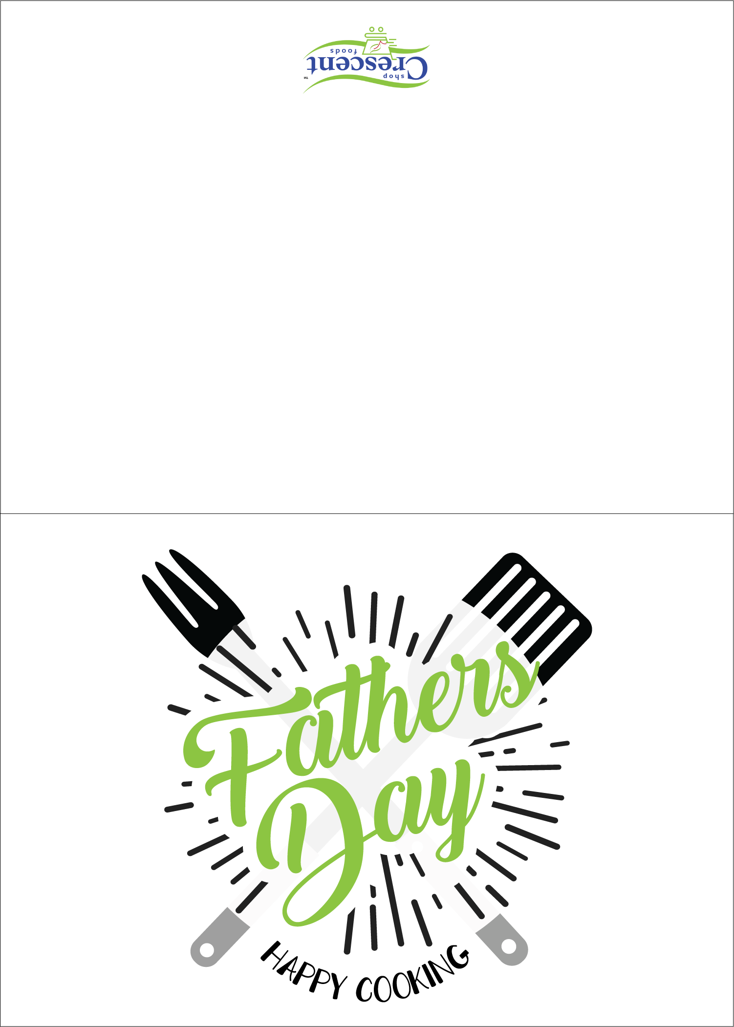 Crescent Foods fathers Day Card Printable