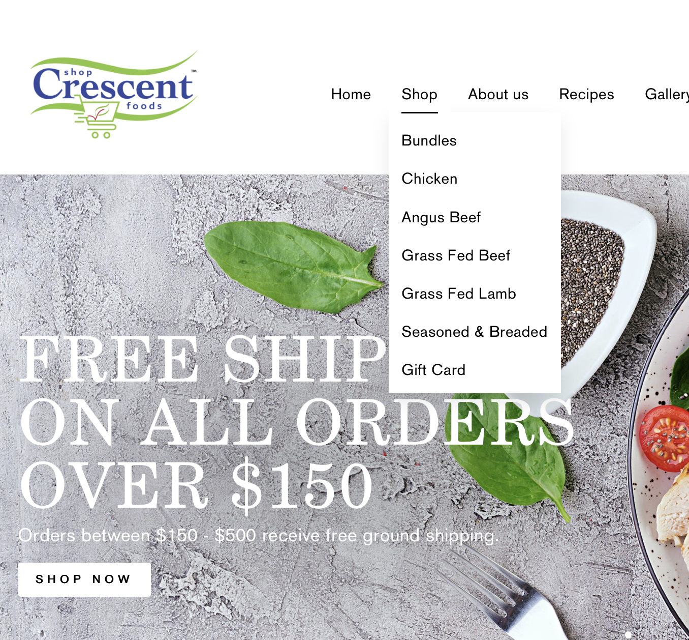 Shop Crescent Foods | Home Meat Delivery