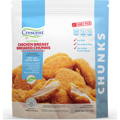 Crescent Foods All Natural Chicken Breast Breaded Chunks