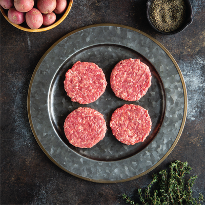 Grass Fed Ground Beef Burgers 85/15 | Home Meat Delivery