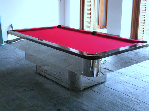 Luxury Chrome Full Rack Pool Tables - Chrome pool table