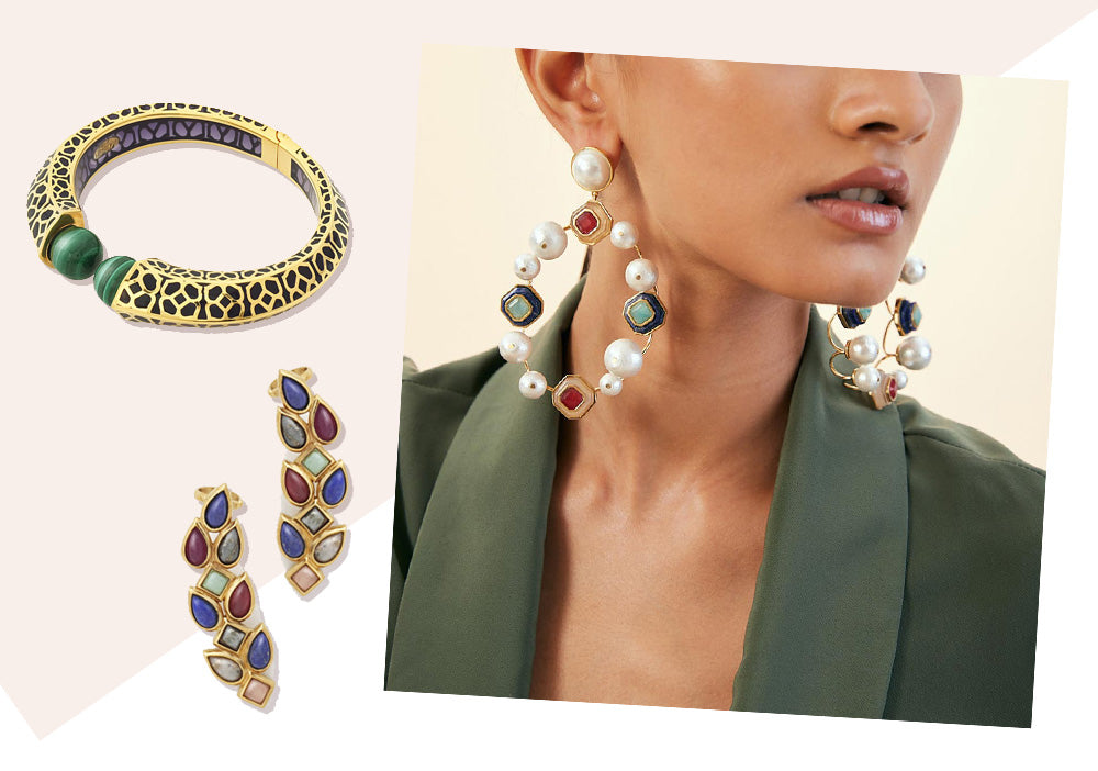 Indulge in This Luxe September Jewelry Trend: Jewel Tone Accents