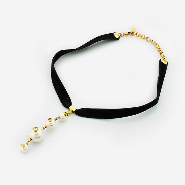 90s Inspired Chokers - Empress Warrior Pearl Choker 001