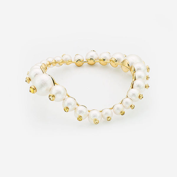 Indian Jewelry Trends for Summer - Empress Warrior Pearl Swirl Bangle 2