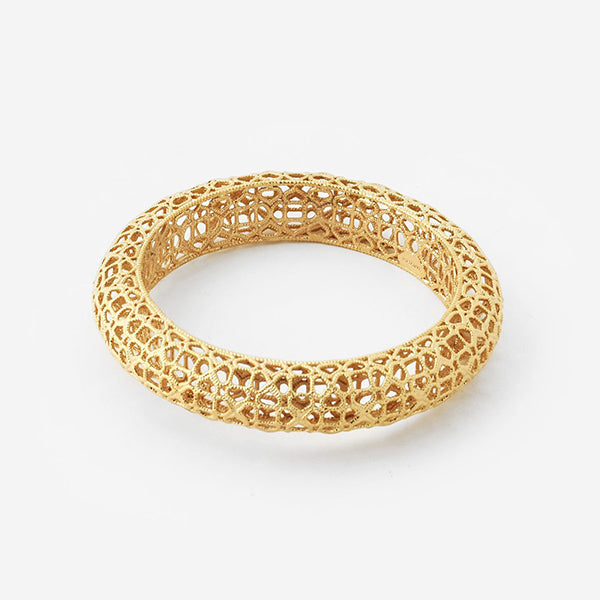 Indian Jewelry Trends for Summer - Temple Muse Filigree Bangle 2