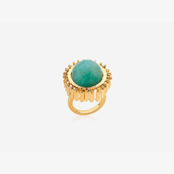 Indian Jewelry With the Hottest Fall 2019 Color Trends - Green - Noor Amazonite Fringe Ring