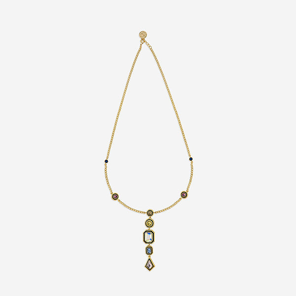 Jewely You Can Travel With - Glitter on the Go Multi Stone Y necklace