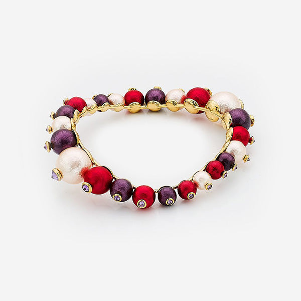 Luxe Fall Jewelry Trends - Jewel Tones - cuff - Empress Warrior Multi Color Pearl Swirl Bangle