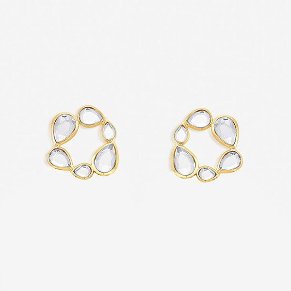 Modern-Indian-Earring- Mirrors on the Move Stud Earrings 2