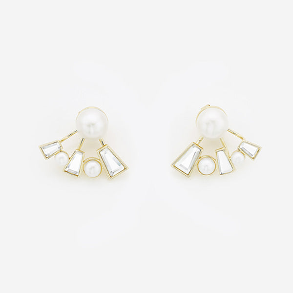 Modern-Indian-Earring-Trend- Angel Dust Baguette Mirror Front-Back Earrings