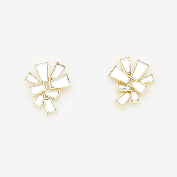 Modern-Indian-Earring-Trend-Studs-Angel Dust Baguette Mirror Stud Earrings 2