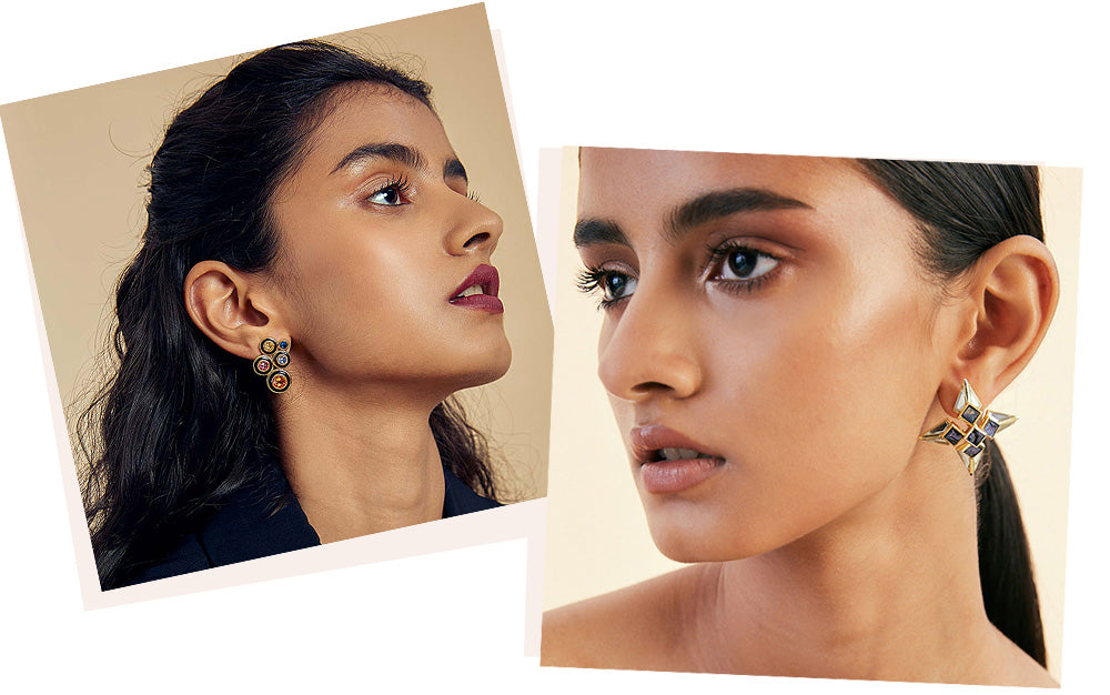 Modern-Indian-Earring-Trend-Studs - COLORS