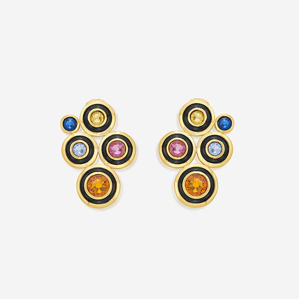 Modern-Indian-Earring-Trend-Studs - Glitter on the Go Swarovski Solar Stud Earrings