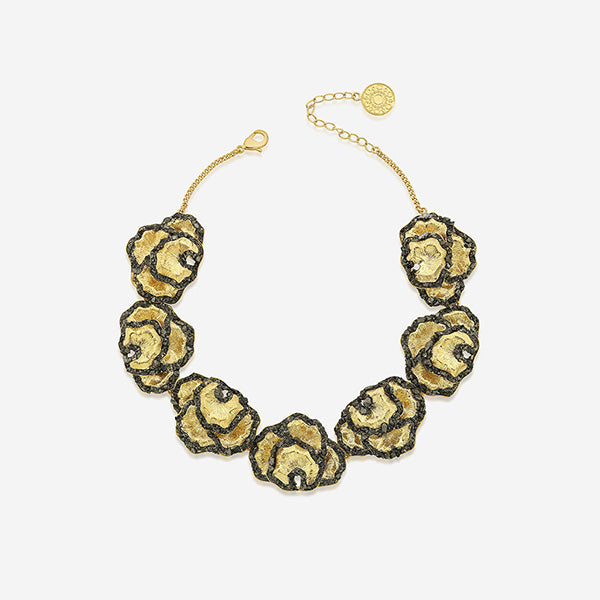 Modern Indian Fool's Gold Jewelry - Necklaces - Fool's Gold Layered Cleopatra Choker Necklace