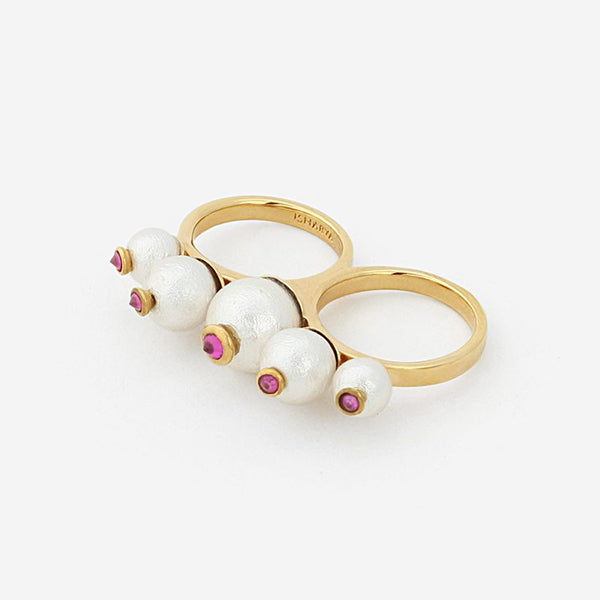 Modern-Indian-Jewelry-Fall-Date-Night_Temple Muse Pearl Double Finger Ring