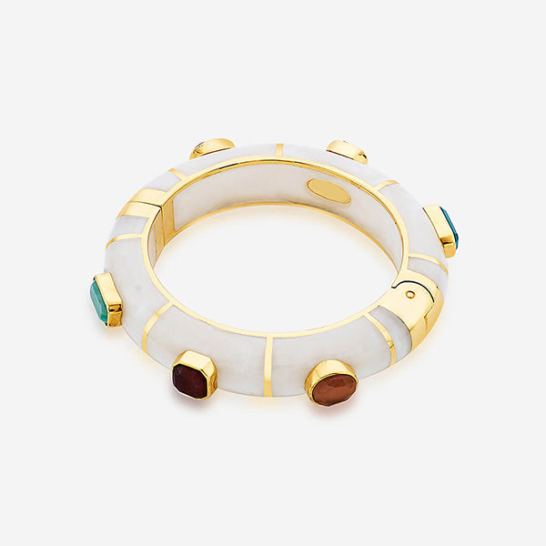 Noor Multicolored Hinged Bangle
