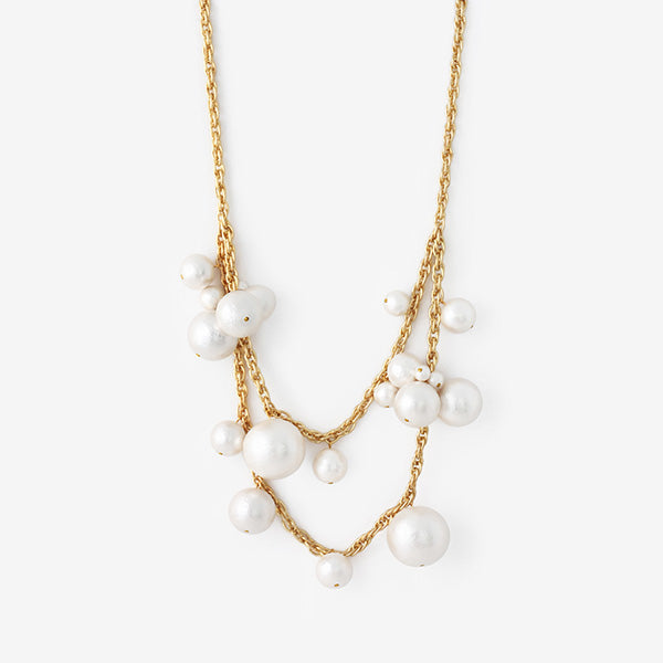fall modern indian jewelry trends - pearl power - Temple Muse Pearl Statement Necklace