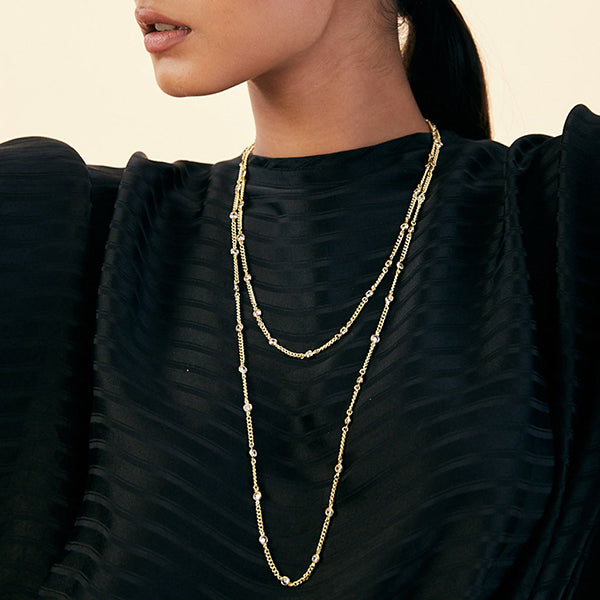 layered necklaces - Demi Goddess Long Chain 2