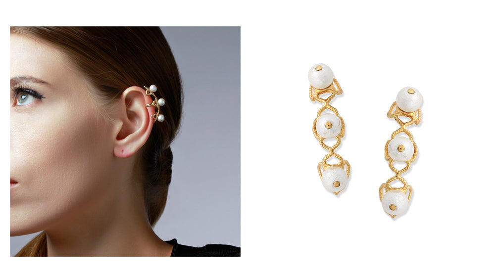 summer-to-fall-statement-earrings-indian-jewelry-Temple Muse Pearl Earcuff Earrings 003