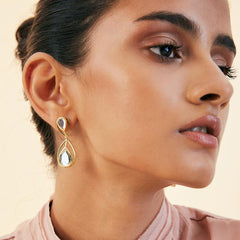Isharya Ayaana Petite Drop Libra Earrings