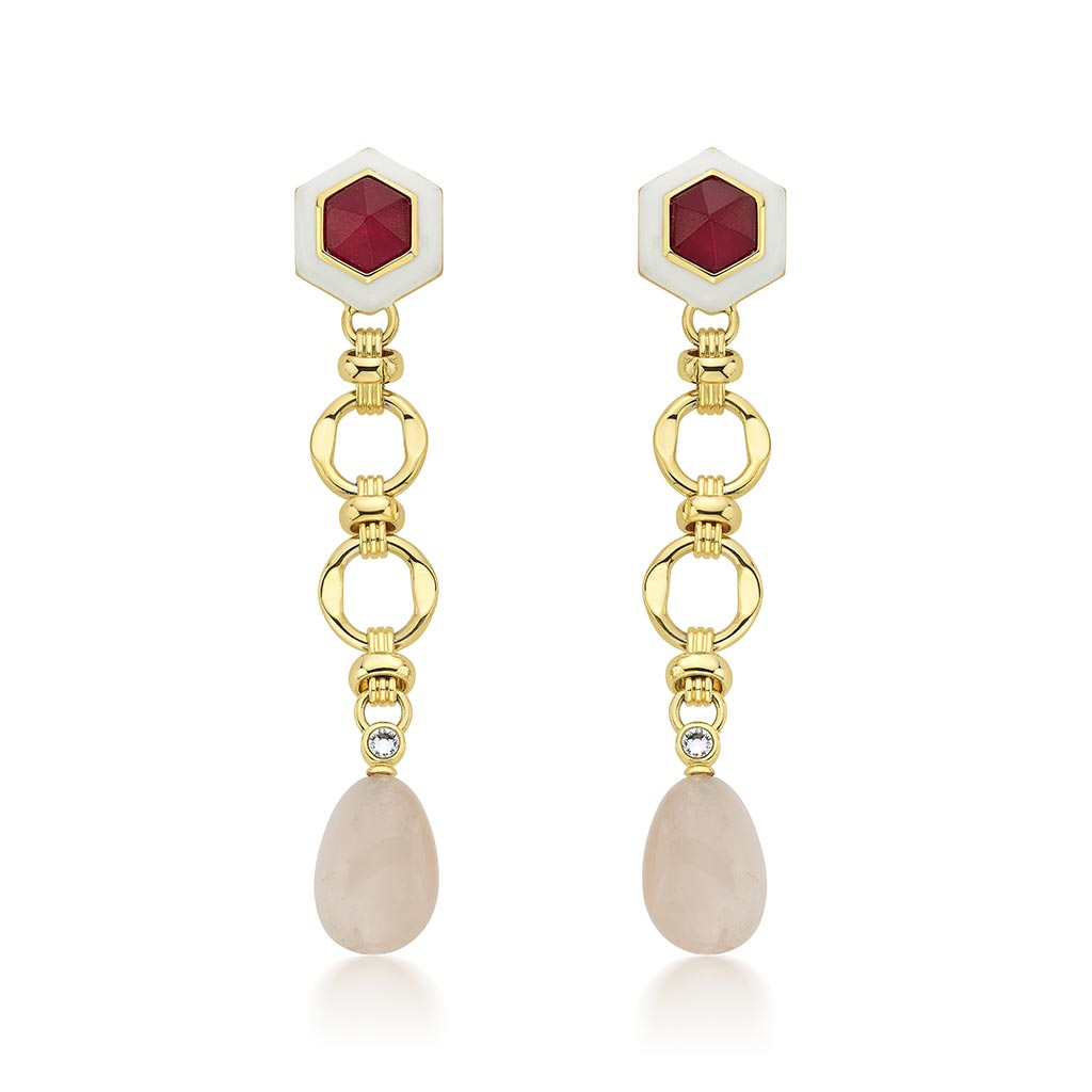 Isharya Borderless Quartz Long Earrings