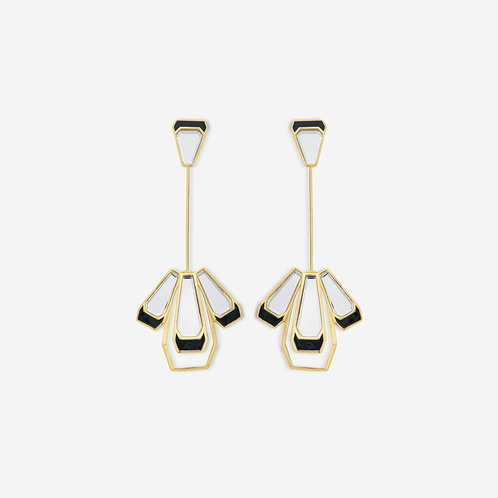 Isharya Ayaana Long Mirror Earrings
