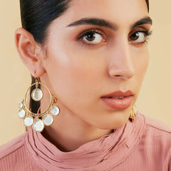 Isharya Mirror Gems Hoop Earrings