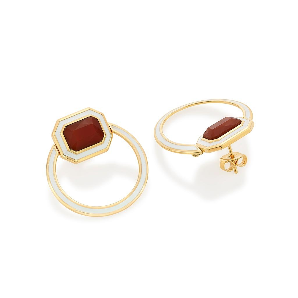 Isharya Borderless Red Onyx Shadow Loop Earrings