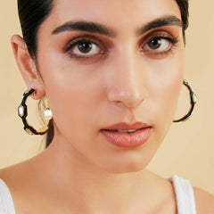 Isharya Borderless Geometric Mirror Hoop Earrings