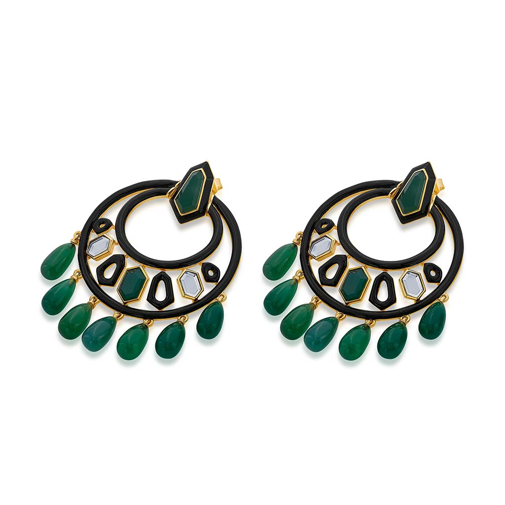 Isharya Borderless Ivy Moon Bali Earrings