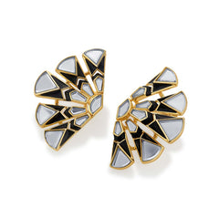 Isharya Borderless Fan Stud Earrings