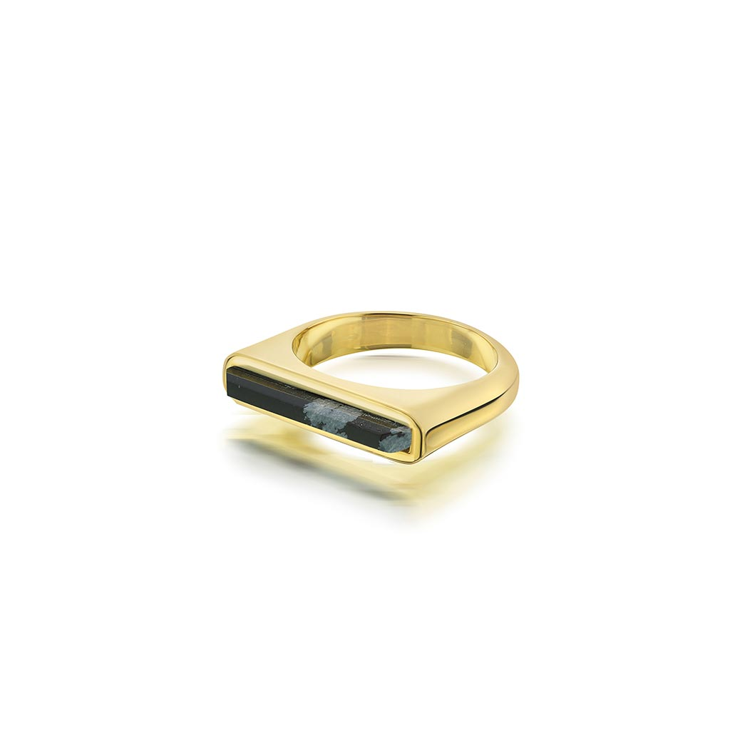 Isharya Borderless Stackable Black Obsidian Ring