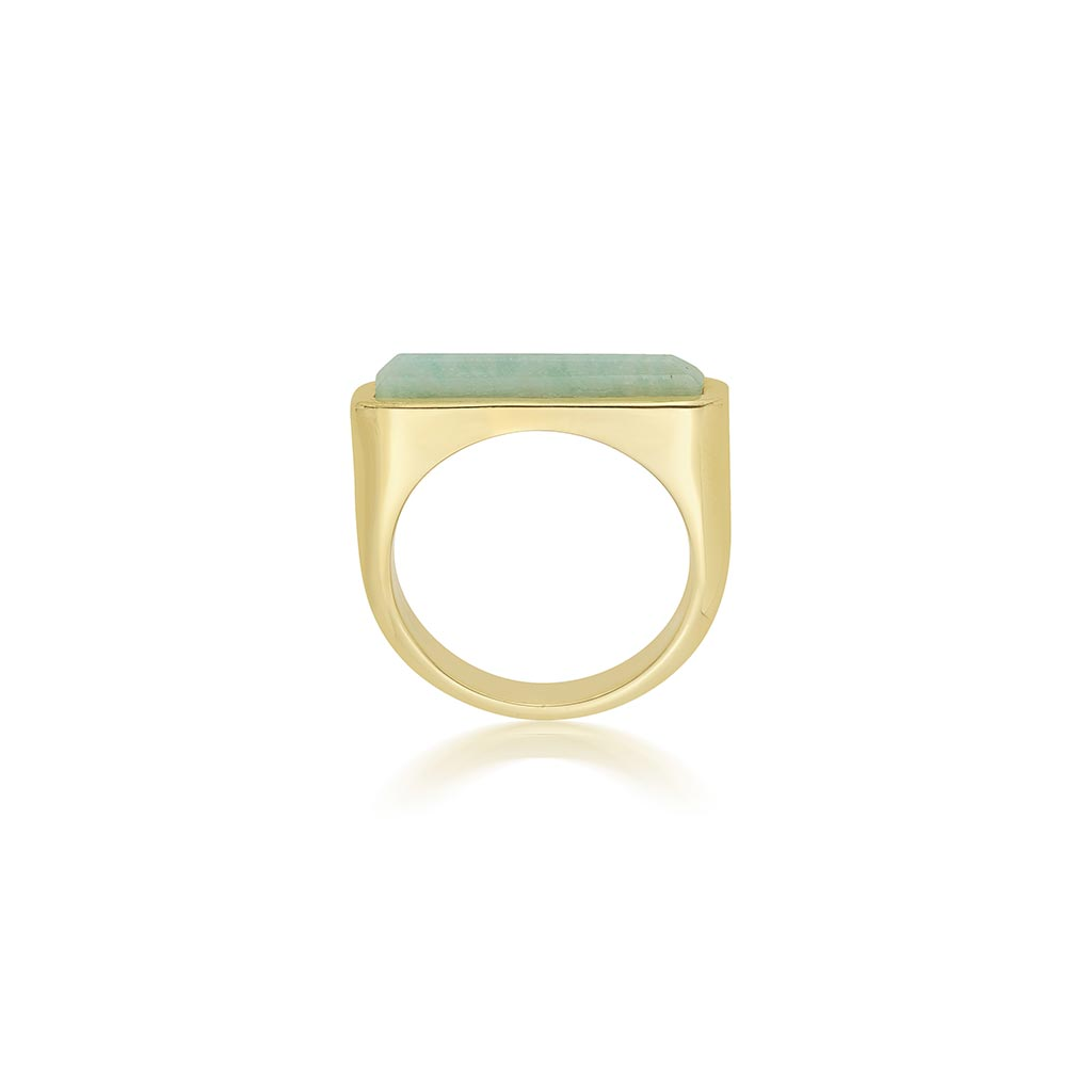Isharya Borderless Stackable Amazonite Ring