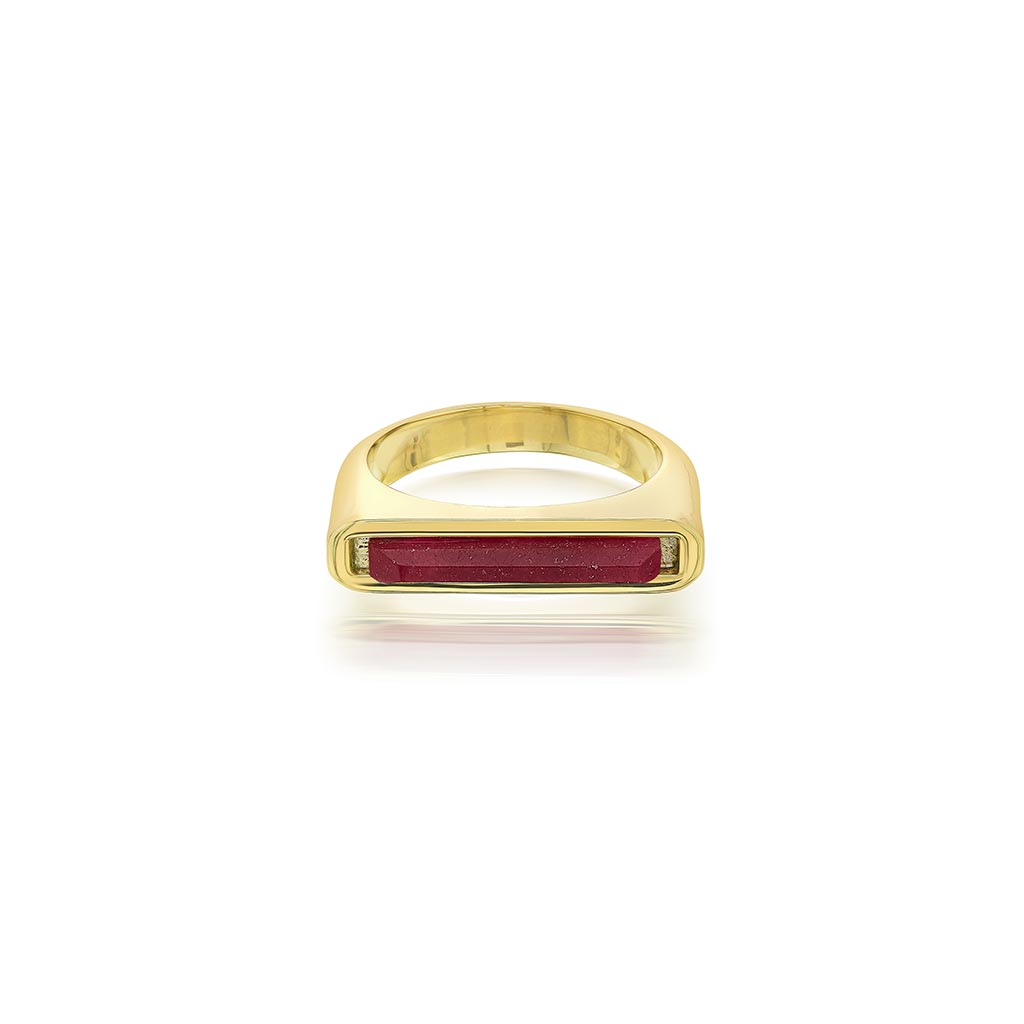 Isharya Borderless Stackable Pink Quartz Ring