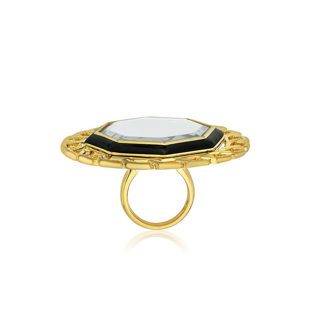 Isharya Borderless Medallion Ring