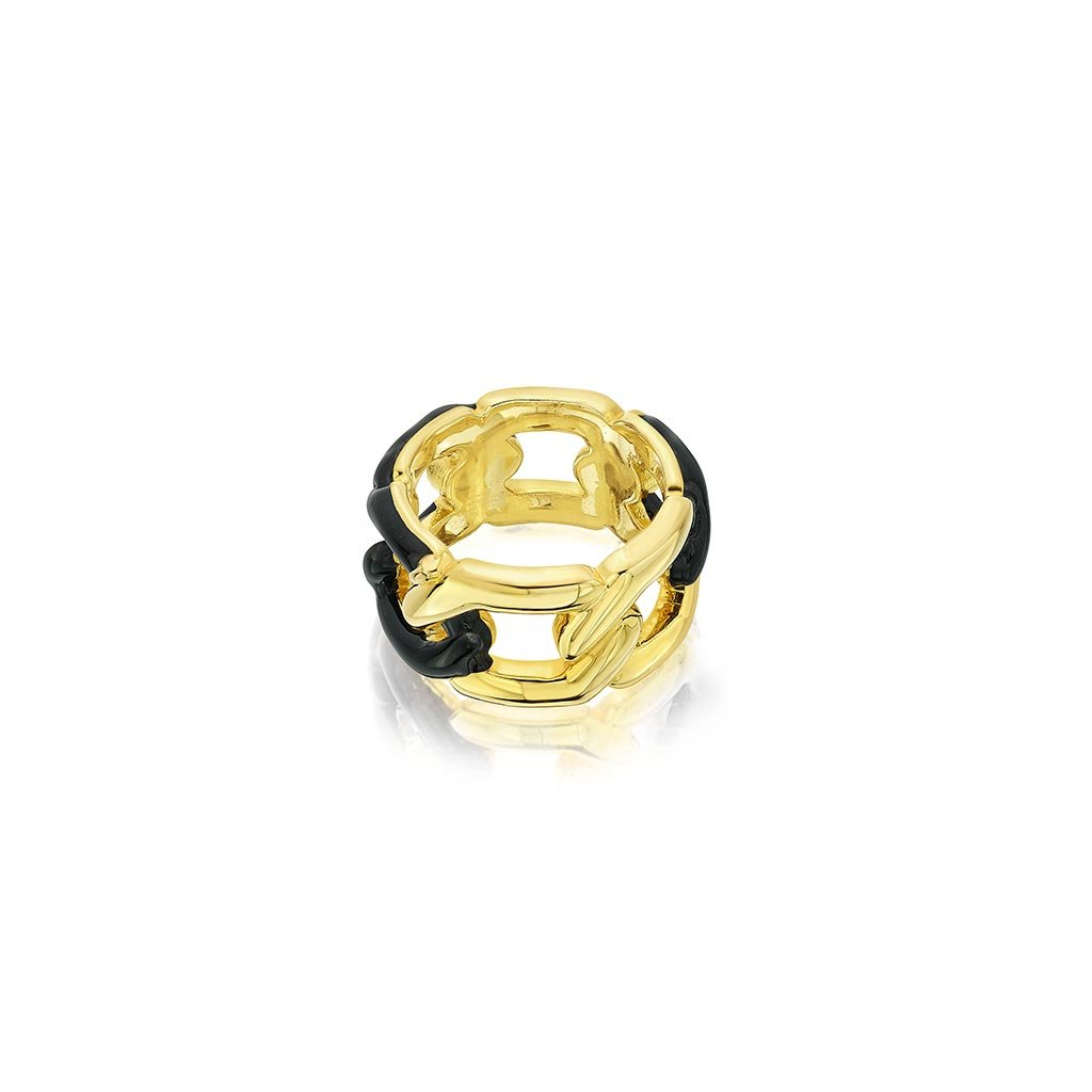 Isharya Borderless Statement Link Ring