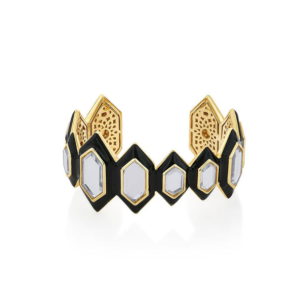 Isharya Borderless Mirror Statement Cuff Bracelet