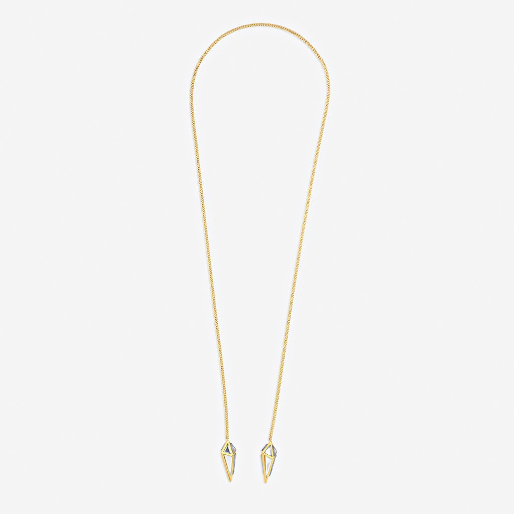 Isharya Demi Goddess Irregular Mirror Lariat Necklace