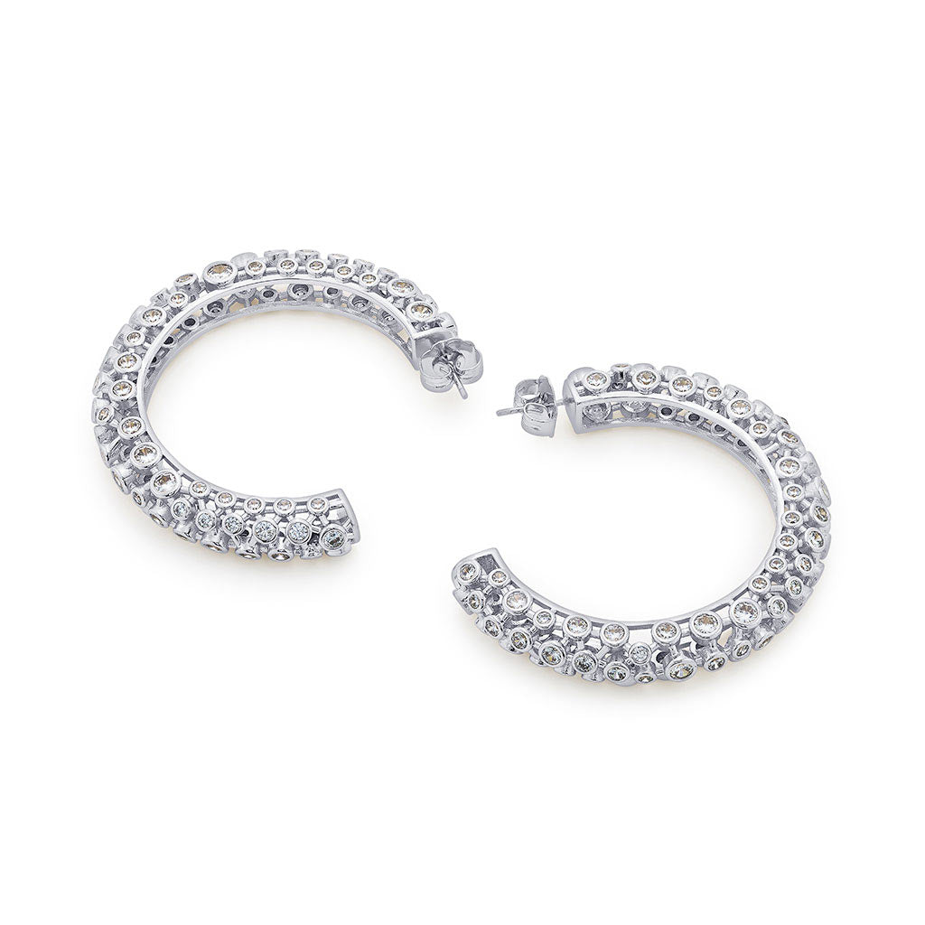 Isharya Modern Maharani Mirror Tube Hoop Earrings