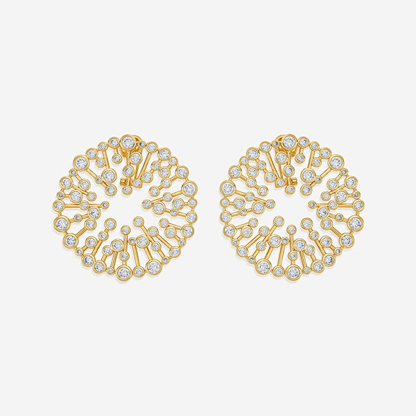 Isharya Modern Maharani Starburst Statement Stud Earrings