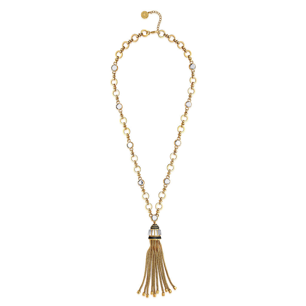 Isharya Borderless Mirror Tassel Necklace