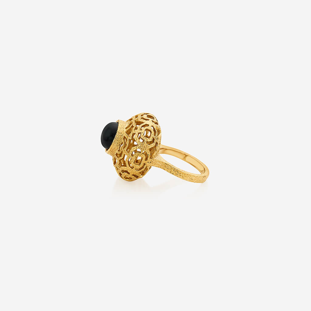 Isharya Noor Black Circle Ring