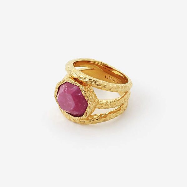 Isharya Orchid Goddess Triple Band Ring