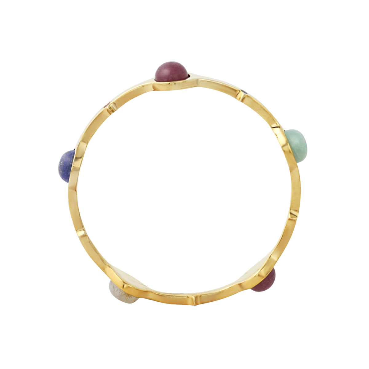 Isharya Temple Muse Gemstone Stackable Bangle Bracelet