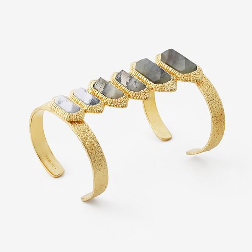 Isharya Neutral Multicolor Croc Power Cuff Bracelet