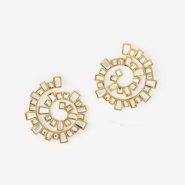 Isharya Disco Mirror Spiral Earrings