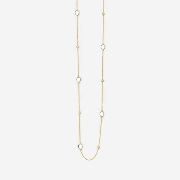 Isharya Dew Drop Mirror Long Necklace